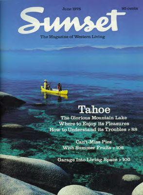 Sunset Magazine cover. June 1978