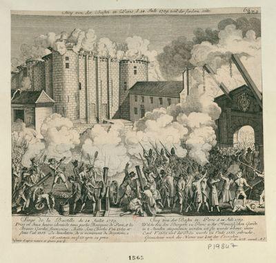 Sieg von der Bastei in Paris d. 14 Juli 1789 von der fordern Seite [estampe]