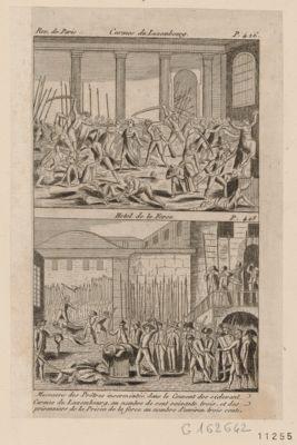 Carmes du Luxembourg Hotel de la Force : <em>massacre</em> des prêtres insermentés... : [estampe]