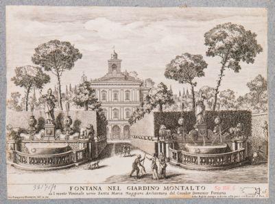 Villa Montalto. Palazzetto Felice e fontane dei Leoni