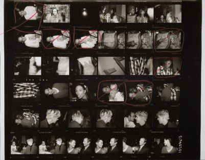 [Party with Keith Haring, Beverly Johnson, Tina Chow, Bethann Hardison, Nick Rhodes of Duran Duran, Peter Beard]