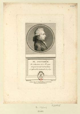 M. Pothée : né à Menloire le 31 8.bre 1742 député du bail.e de Vendôme à l'Assemblée nationale de 1789 : [estampe]