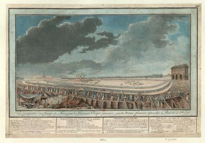 Vue perspective du <em>Champ</em> <em>de</em> <em>Mars</em>, jour du serment civique prononcé par la nation françoise assemblée à Paris le 14 juillet 1790 [estampe]