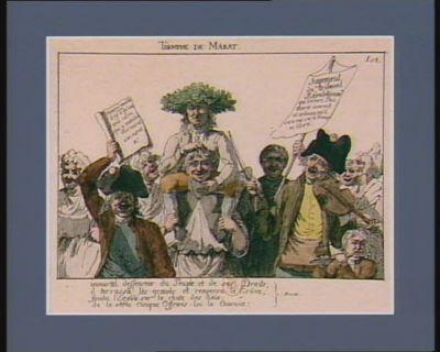 Triomphe de Marat immortel défenseur du peuple et de ses droits, il terrassa les grands et renversa le trône... : [estampe]