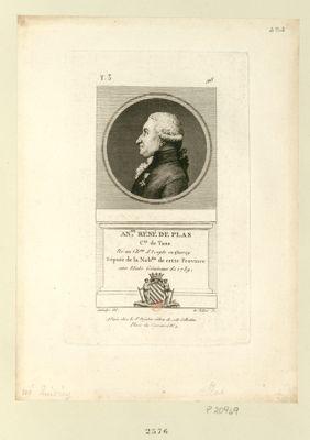 An.ne Réné de Plas c.te de Tane né au ch.au d'Icepts en Quercy député de la nob.sse de cette province aux Etats généraux de 1789 : [estampe]