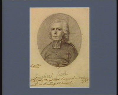 Mr L'abbé Clerget Curé d'Onans né le 23 Décem. 1746 [d]eputé du Bailliage d'Amont. : [dessin]