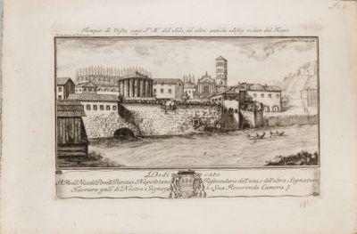 Cloaca Massima e tempio di Vesta, sbocco sul fiume con i resti dell'antico argine