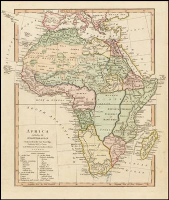 Map Of Africa In 1800.Africa Barry Lawrence Ruderman Map Collection Spotlight At Stanford