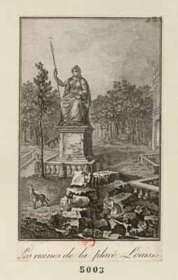 Les  Ruines de la place Louis 15 [estampe]