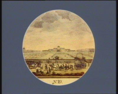 N.o 19 12 dito. Les troupes du Champ de Mars partant pour la place Louis XV... : [estampe]