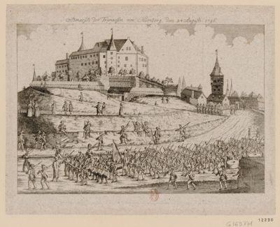 Abmarsch der Franzosen von Nürnberg den 24 August 1796 [estampe]