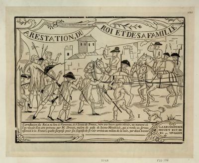 <em>Arrestation</em>, du roi et de sa famille a Varenne le 22 juin 1791 [estampe]