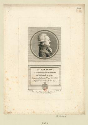 M. Riviere lieutenant général du Gévaudant né à Pradelle en 1744 député de la sénec.ssée du Gévaudant à l'Assemblée nationale de 1790 : [estampe]