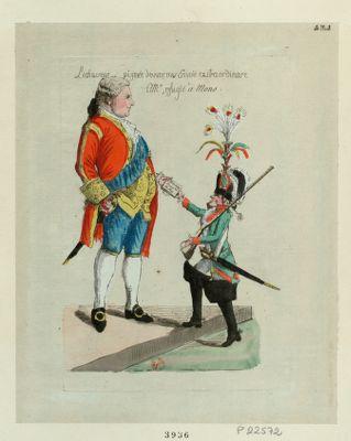 Le  Chasseur pigmée de Wormes envoié extraordinare a Mr, refugié à Mons [estampe]