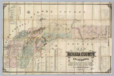 Map Of Nevada County California Compiled From The Latest - Map of nevada county