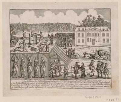 Vorstellung der Hinrichtung Ludwigs des XVI Königs v. Frankreich den <em>21</em> Janu. <em>1793</em> [estampe]