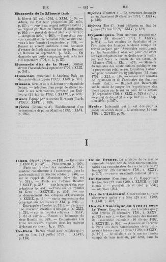 Tome 51 : Table générale alphabétique de l'Assemblée nationale Législative - page 442
