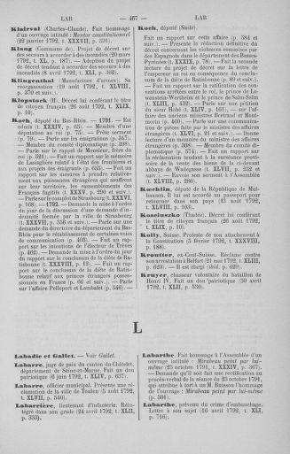 Tome 51 : Table générale alphabétique de l'Assemblée nationale Législative - page 467