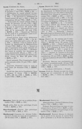 Tome 51 : Table générale alphabétique de l'Assemblée nationale Législative - page 535