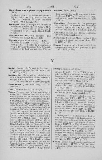 Tome 51 : Table générale alphabétique de l'Assemblée nationale Législative - page 622