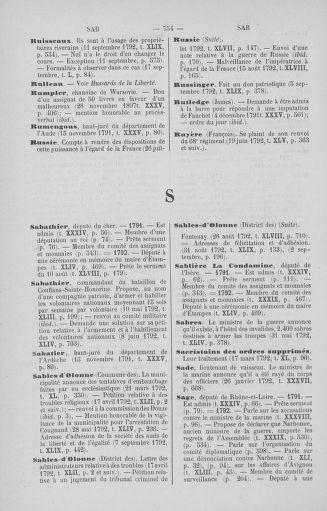 Tome 51 : Table générale alphabétique de l'Assemblée nationale Législative - page 754