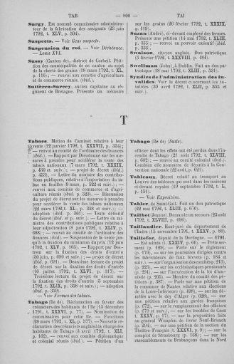 Tome 51 : Table générale alphabétique de l'Assemblée nationale Législative - page 800