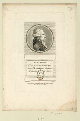 J.P. Roger né à l'Ile en Dodon le 6 juillet 1757, député de Cominges et Nebousan à l'Assemblée nat. le de 1789 : [estampe]