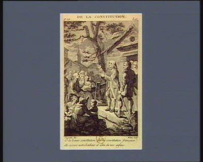 De la Constitution Ô la bonne Constitution, que la Constitution française ! elle assure notre bonheur et celui de nos enfans : [estampe]