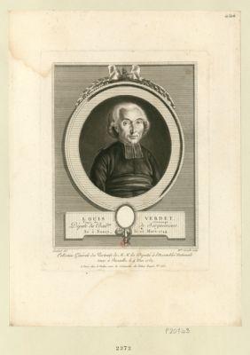Louis Verdet curé de Vintrange député du bail.ge de Sarguemines, né <em>à</em> Nancy, le 25 mars 1744 : [estampe]