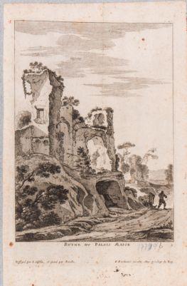 Palatino, resti di costruzione forse della Domus Severiana