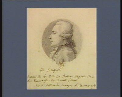M. Huguet maire de la ville de Billom député de la sénéchaussée de Clermont-Ferrand né à Billom en Auvergne le 28 mars 1751 : [dessin]