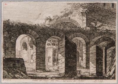 Basilica di Costantino, particololare del portico