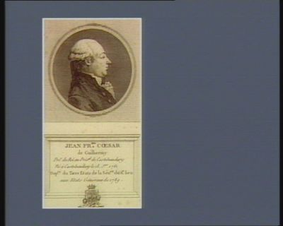 Jean Fr.ois César de Guilhermy pro.r du Roi au prés.al de Castelnaudary né à Castelnaudary le 18 j.er 1761 dep.té du Tiers etats de la sén.ée du d.t lieu aux Etats généraux de 1789 : [estampe]