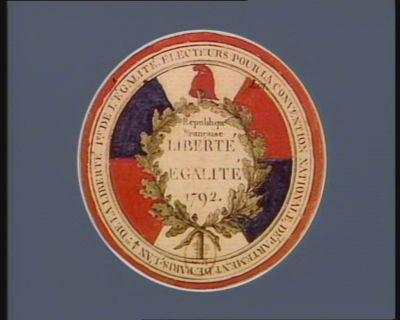 Electeurs pour la Convention nationale, département de Paris, l'an 4.me de la liberté, 1.er de l'égalité République française, liberté, égalité, 1792 : [estampe]