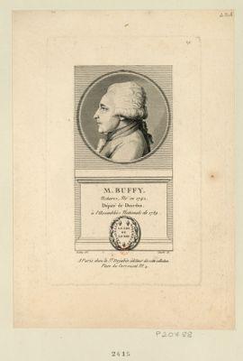 M. Buffy notaire, né en 1742. Député de Dourdan, à l'Assemblée nationale de 1789 : [estampe]