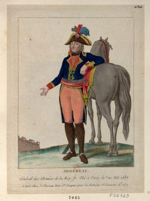 Angereau [i.e. Augereau] général des armées de la Rep. fr. né à Paris le 21 oct. 1757 : [estampe]