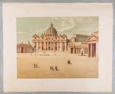 Piazza S. Pietro in Vaticano, veduta generale