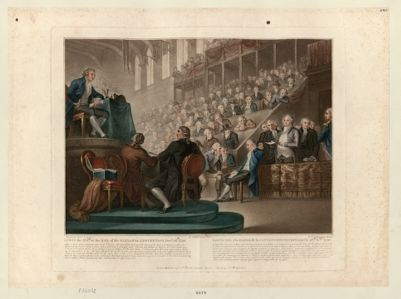 Lewis the XVI.th at the bar of the National Convention, Dec.r 26.th 1792 After a most able & eloquent Speech of Deseze... : [estampe]
