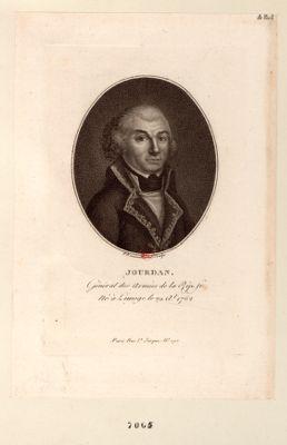 Jourdan Général des Armées de la Rép. fr. Né à Limoge le 29 a.l 1762 : [estampe]