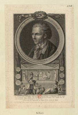 J.J. Rousseau né à Genève en 1713 mort à Ermenonville près Senlis le 2 juillet 1778... : [estampe]