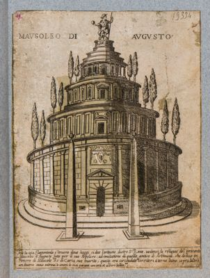Mausoleo d'Augusto tra la via Flaminia e il Tevere