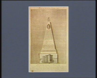 Monument elevé à la gloire des electeurs de 1789.. [estampe]