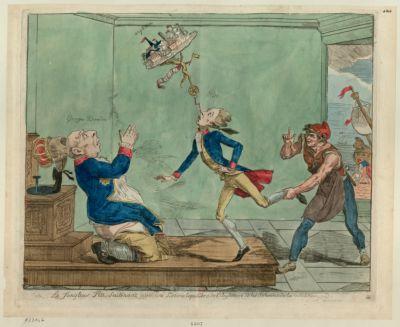 Le  Jongleur Pitt, soutenant avec une loterie l'équilibre de l'Angleterre et les subsides de la coalition [estampe]