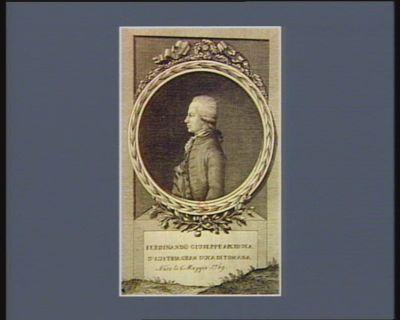 Ferdinando Giuseppe arciduca d'Austria gran duca di Toscana nato li 6. maggio <em>1769</em> : [estampe]