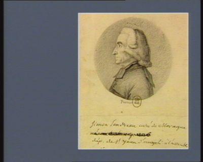 Simon Landreau curé de Moragne dép. de St Jean d'Angeli à l'Assemblée Nationale de [ ] : [dessin]