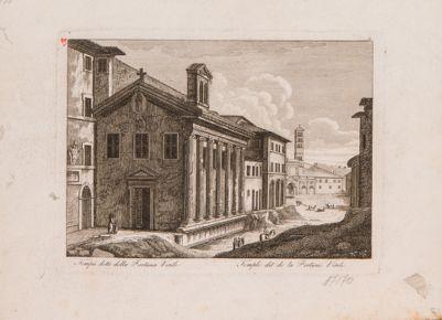 Foro Boario, tempio della Fortuna Virile col fianco destro scavato