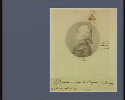 J.L. Breuvart curé de St. Pierre de Douay né le 10 juil. 1739 : [dessin]