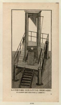 La  Véritable guillotine ordinaere, ha, le bon soutien pour la liberté ! [estampe]