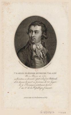 Charles Eléonor Dufriche Valazé né à Alençon en 1752, cultivateur, ci-devant député à la Conv. nationale... : [estampe]
