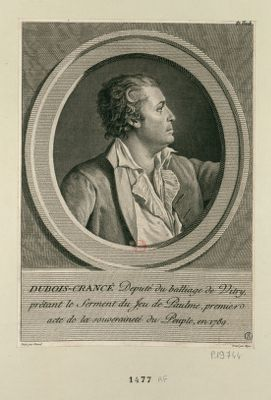 Dubois-Crancé député du balliage de Vitry, prêtant le Serment du Jeu de Paulme, premier acte de la souveraineté du peuple, en 1789 : [estampe]